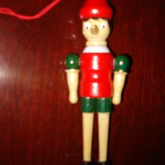 Wooden Pinocchio ornaments